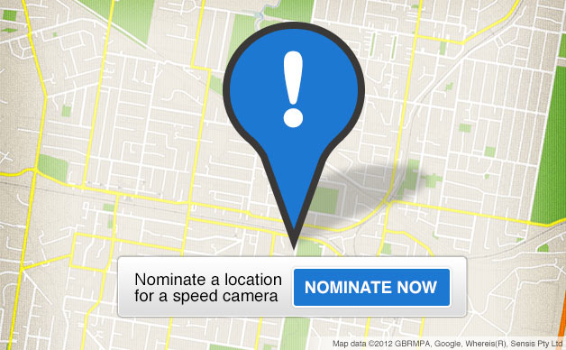 Nominate a speed camera location